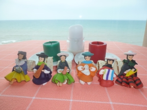 Festive Ecuadorian People Made Out Of Marzipan