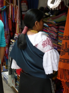 Traditional Hair and Dress: Otavalo, Ecuador