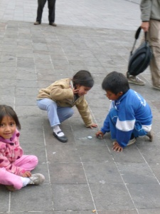 Children Playing In The Square: Quito, Ecuador