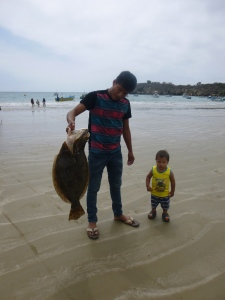 Fisherman and His Flounder: Agangue, Ecuador