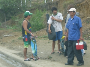 Men Waiting For The Bus: Montanita, Ecuador