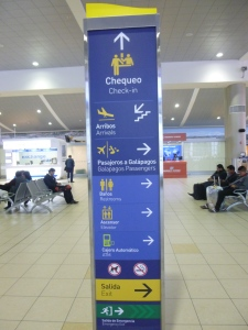 Signs: Mariscal Sucre International Airport