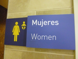 Women's Bathroom Sign, Quito Airport, Quito, Ecuador