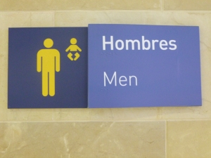 Men's Bathroom Sign, Quito Airport, Quito, Ecuador
