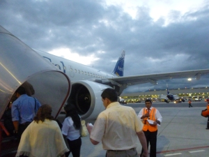 Boarding The Plane: Mariscal Sucre International Airport