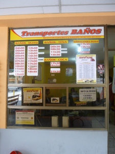 Bus Ticket Window: Ecuador
