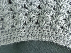 Shawl Neck Detail of Crochet Stitch: Handmade by Narcissa de Jesus Abando Lucas
