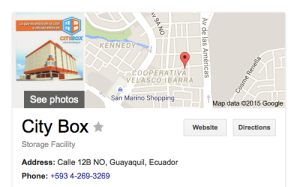 CITYBOX! Great Storage in Ecuador!