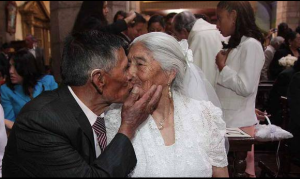 Marriage Sealed With A Kiss....After 52 Years